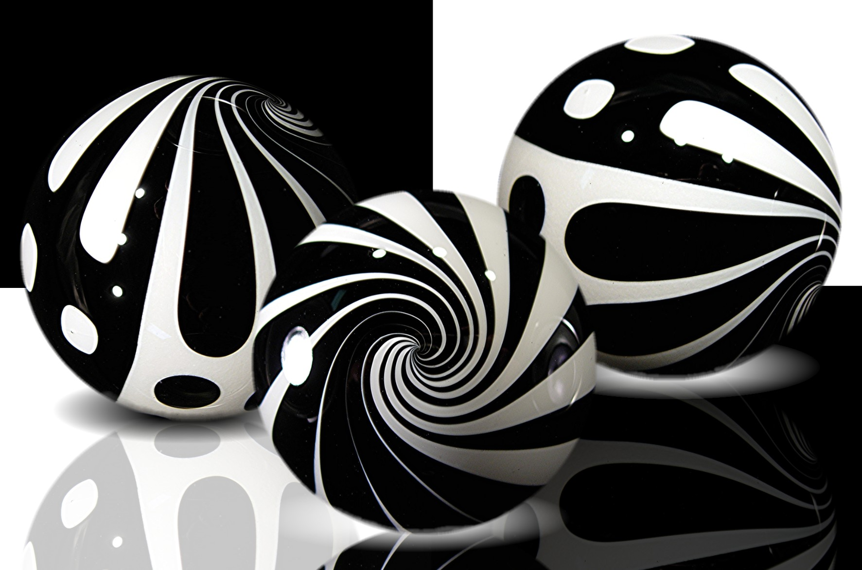 Kris Parke Black & White Graphics. exhibit at MODERN MARBLES!