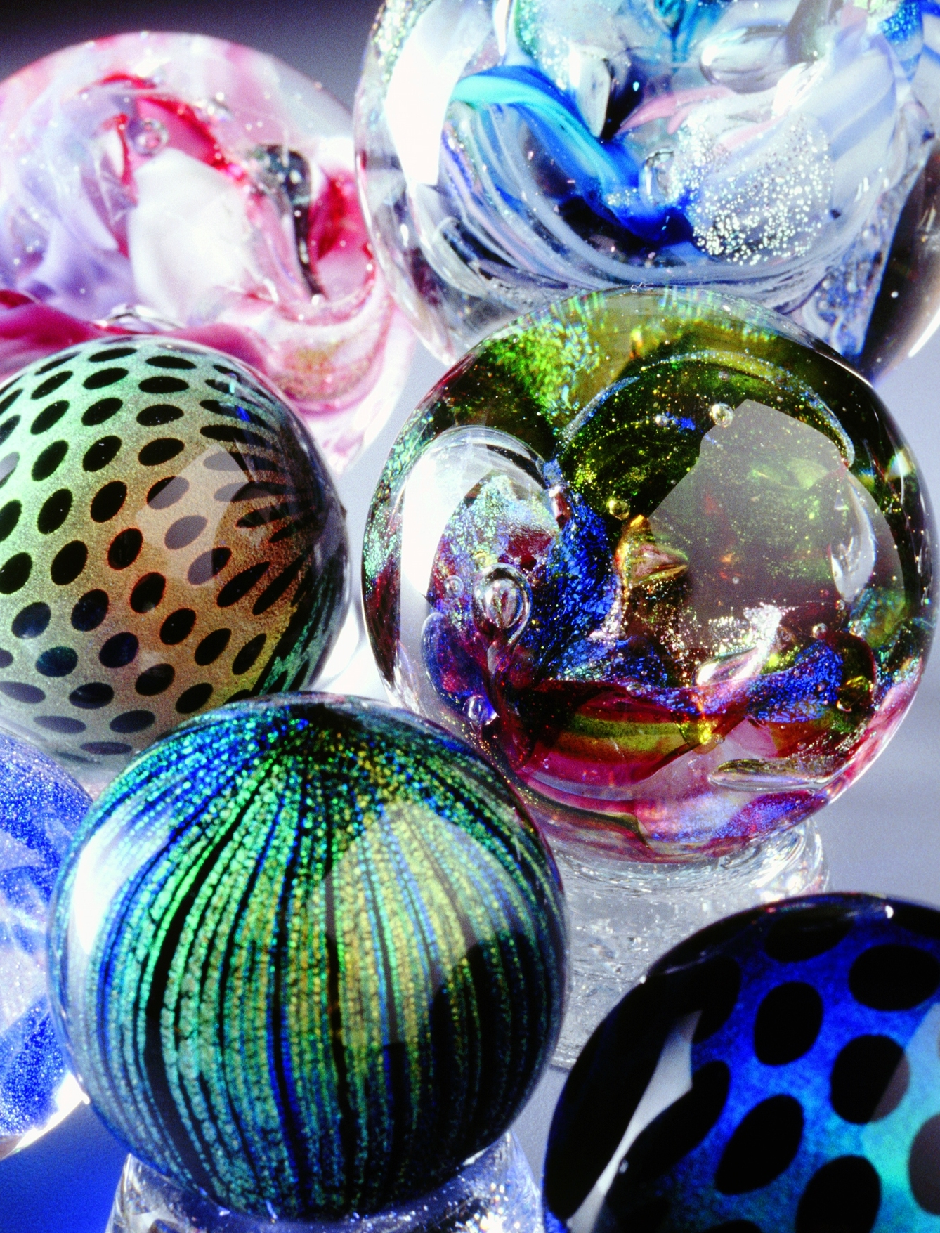 Aline Peterson Dichroic Patterned Marble medley