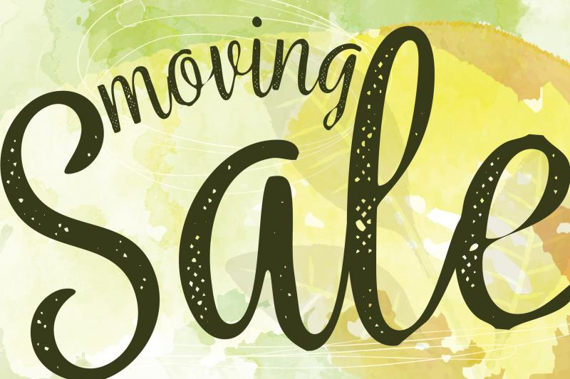 Moving Sale in July