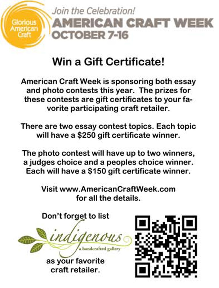 contest info for American Craft Week