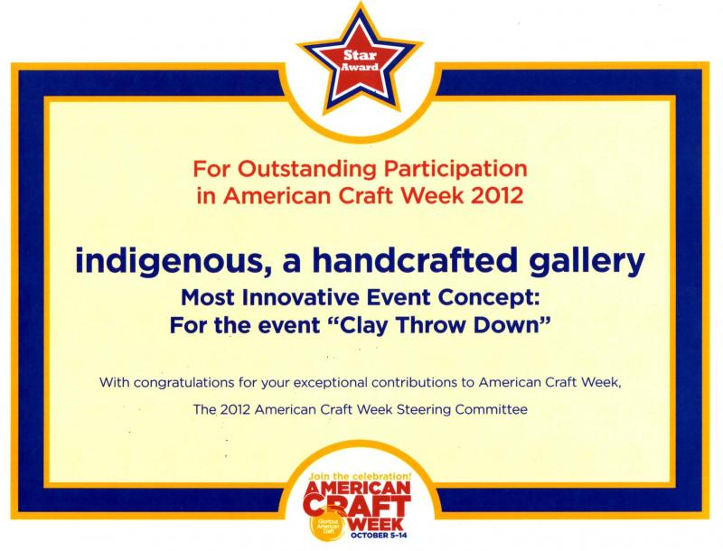 Star Award from American Craft Week organizers!