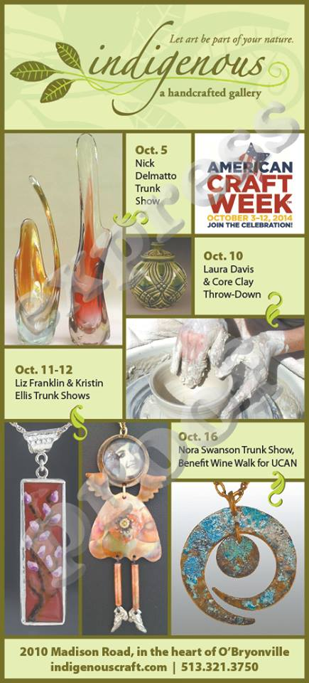 October's artful events at indigenous!