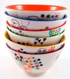 Stack of bowls, perfect for ice-cream