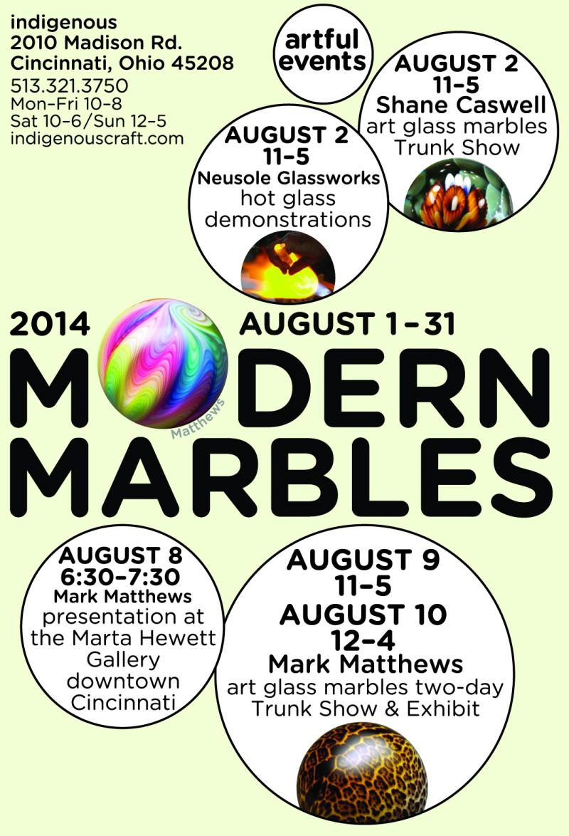 Modern Marbles 2014 events!