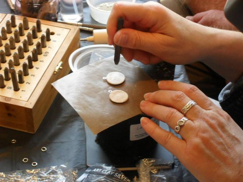 Linda Stiles-Smith creating fine silver fingerprint charms