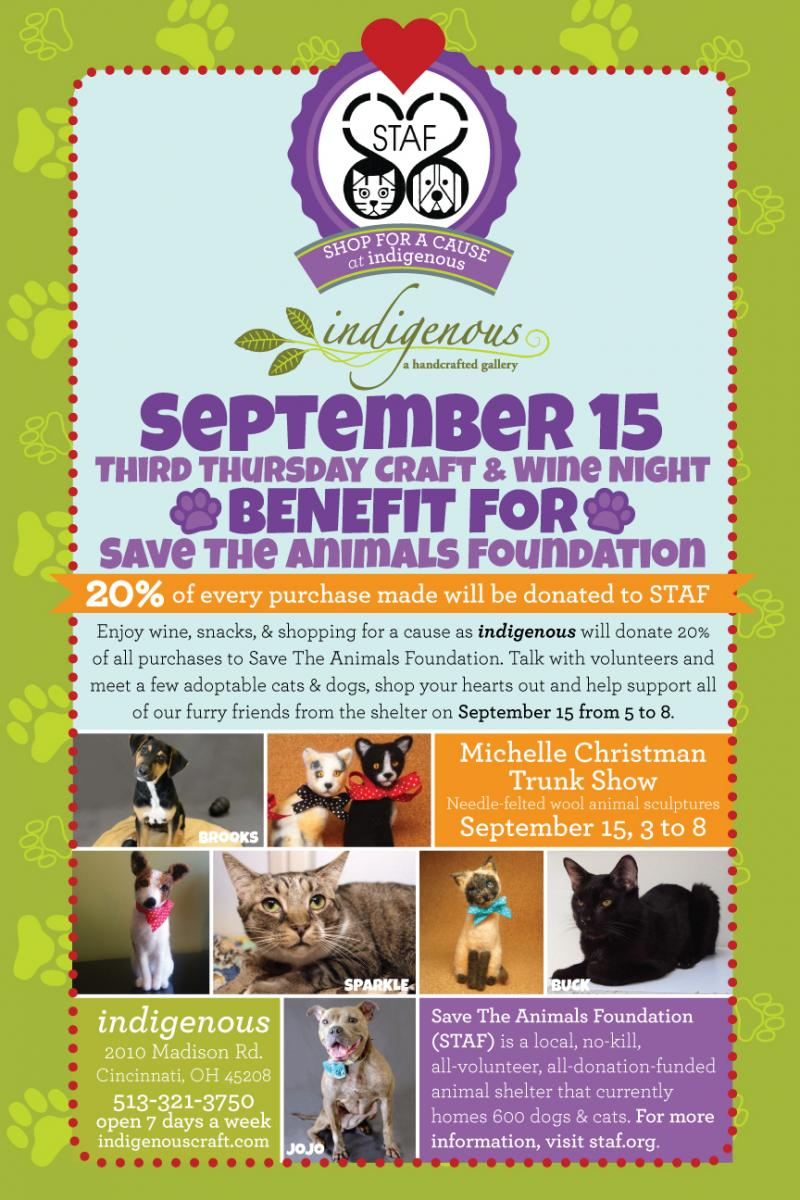 BENEFIT for Save The Animals Foundation ~ September 15