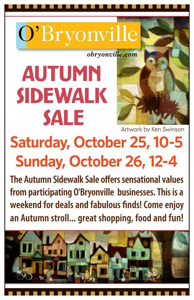 Sidewalk Sale ~ October 25 & 26!
