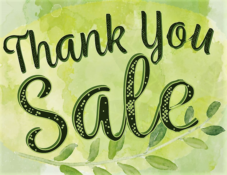 We want to thank you with a sale_